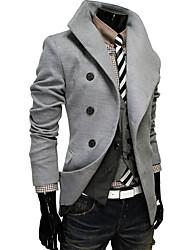 Laine à manches longues Épaissir Blazer Manteau de revers de l'homme