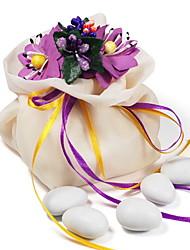 Favor bolsos de lazo con la flor - conjunto de 12