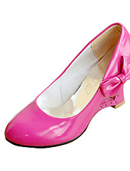 Patent Leather Wedge Heel With Bowknot(More Colors)