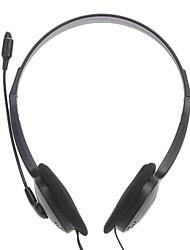 e800 cuffie da 3,5 mm sopra l'orecchio stereo con microfono per PC / desktop