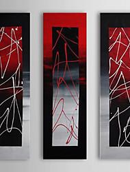 Handgemaltes Ölgemälde abstrakte Skulptur mit gestreckten Rahmen von 3 1311-AB1028 Set