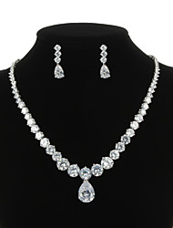 Jewelry Set Women's Anniversary / Wedding / Engagement / Birthday / Gift / Party / Special Occasion Jewelry Sets Cubic ZirconiaNecklaces