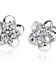 Xenia Women'S Silber 10 * 10 * 5mm Blütenform Ohr-Nagel