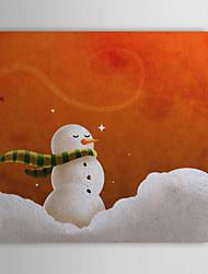 De cadeau de Noël peinture à l'huile prêt à accrocher Heureux Bébé de neige prêt à accrocher