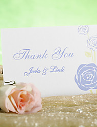 Thank You Card - Blue Flower (Set of 12)