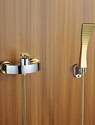 Modern Design Chrome Robinet de bain avec douche à main d'or