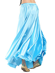 Belly Dance Skirts Women's Training Satin 1 Piece Natural Skirt