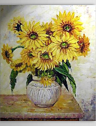 Hand Painted Oil Painting Still Life Sunflowers with Stretched Frame