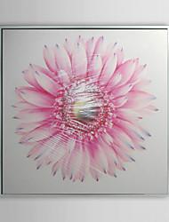 Floral Pink Petals Framed Oil Painting