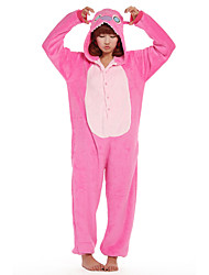 Kigurumi Pajamas Monster Leotard/Onesie Festival/Holiday Animal Sleepwear Halloween Pink Patchwork Coral fleece Kigurumi For Unisex