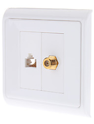 Two-Piece Inset Wall Plate RJ45 F-Type White