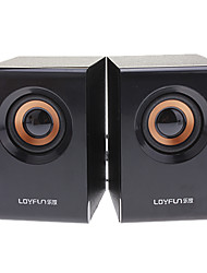 LOYFUN M10 2,0 Woody Mini Hi-fi estéreo altavoz de la música para Laptop/Cellphone/MP4/PSP/CD