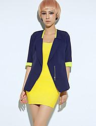 Women's Coats & Jackets , Polyester Casual GIMFI