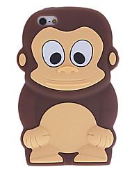 Estilo dos desenhos animados do macaco 3D Padrão Soft Case de silicone para iPhone 5C (cores sortidas)