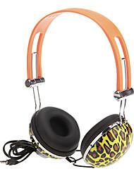 Moda Super-Bass Headphones com microfone para computador, MP3, MP4, telefone móvel bonito
