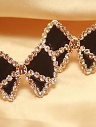 MISS U Women's Black Bowknot Earrings