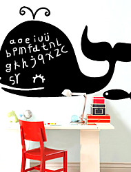 Blackboard sticker mural, amovible, heureuse de baleine