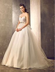Lanting Bride Ball Gown Petite / Plus Sizes Wedding Dress-Court Train Sweetheart Tulle