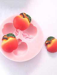 Tre fori di Apple Fruit Silicone Mold Stampi fondente di zucchero mestieri Strumenti cioccolato stampo per torte