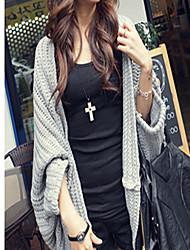 Anzhier Fashion Bat mouwen Shawl Coat (licht grijs)