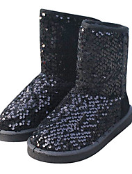 Damen Winter Sequin Mid-Calf Ankle Boots