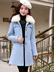Women's Coats & Jackets , Wool Blend Casual Zigeru