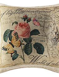 """18 """"Pays Floral Polyester coussin décoratif avec insert"""
