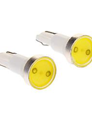 T5 0.5W 1-LED 6000K Cool White Light Bulb LED para carro (12V, 2pcs)