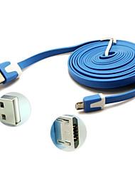 3м лапши плоским Micro USB к USB-кабель для Samsung Galaxy Note 4 / s4 / S3 / s2 и мото / LG / Nokia / Sony