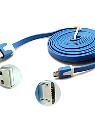 3m fideos plana usb micro al cable usb para samsung galaxy nota 4 / s4 / s3 / s2 y moto / lg / nokia / sony