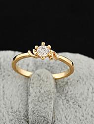 Yueli Frauen-18K Gold Zirkon Ring J0304