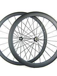 700C * 50mm 20,5 frontale Full Carbon 38 millimetri posteriore copertoncino Road Bike / Ruote bici