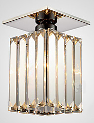 Crystal Flush Mount, 1 luz, hierro moderno Plating