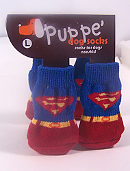 Socken & Schuhe für Hunde / Katzen Rosa Winter S / M / L Baumwolle
