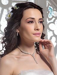 alta qualidade czech rhinestones liga jogo da jóia chapeado de casamento, incluindo colar e brincos