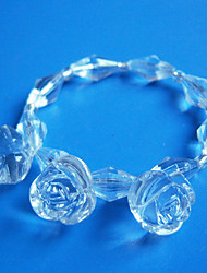 Effacer Wedding Rose Rond de Serviette Set de 12, acrylique Dia 4.5cm