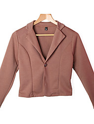 Women's New Fashion Lady Blazer Slim One Button Long Sleeve Leisure Coat Jacket