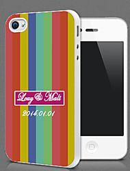Personalizzato Chromatic Stripe Protezione Shell per iPhone 4S / 4