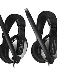 DANYIN DT-2699 Stereo Over-Ear fone de ouvido com microfone e remoto para PC / iPhone / iPad / Samsung / iPod
