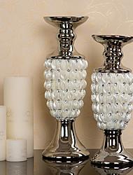 "14.25 ""H Modern Style Shell Keramik Set Kerzenhalter (2 Stück)"