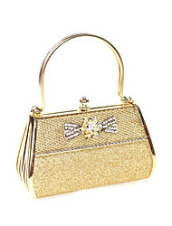 Leatherette Wedding/Party Evening Handbags/Top Handle Bags With Gold Hardware