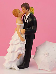 """Romantic in the Rain"" Wedding Cake Topper"