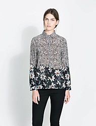 Women's Tops & Blouses , Cotton/Polyester Vintage/Casual/Work BYS
