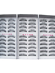 30 Pairs European Fiber EyeLash Black False Eyelashes