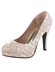 Women's Shoes Lace Spring / Summer / Fall Heels Wedding Stiletto Heel Red / Silver / Gold