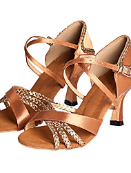 Latin/Salsa Customize Women's Satin Dance Shoes Ballroom Sandals
