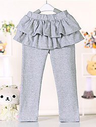 Girl's Solid Pants,Cotton All Seasons