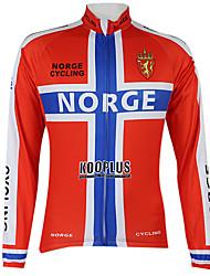 Kooplus2013 Campeonato Noruega Jersey 100% fibras de poliéster Wicking Ciclismo Camisa com fita reflexiva