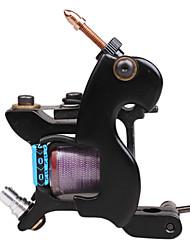 Single Coil 8 Wraps Tattoo Maschinengewehr-Shader (Schwarz)