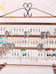 Modern Classic Rectangular Jewelry Rack with Hooks